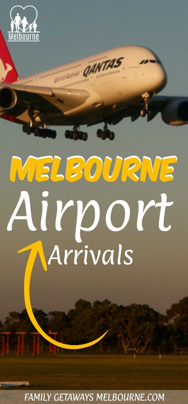 Melbourne Airport arrivals Pinterest pin