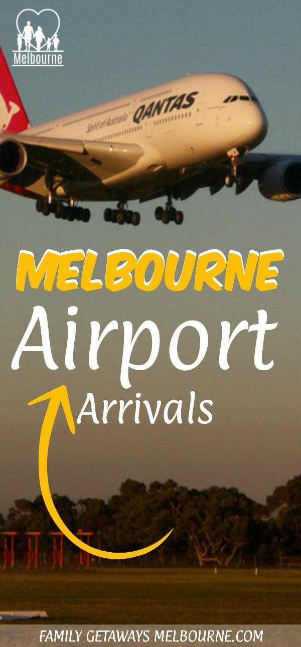 Melbourne Airport arrivals Pinterest pin