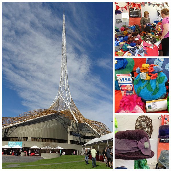 Art Centre Spire and Sunday Market Stalls