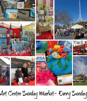 Link to site page on The Art Centre Sunday Market