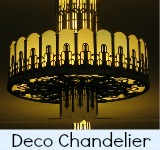 Image link to the Site page n the Melbourne Myer art deco Chandelier