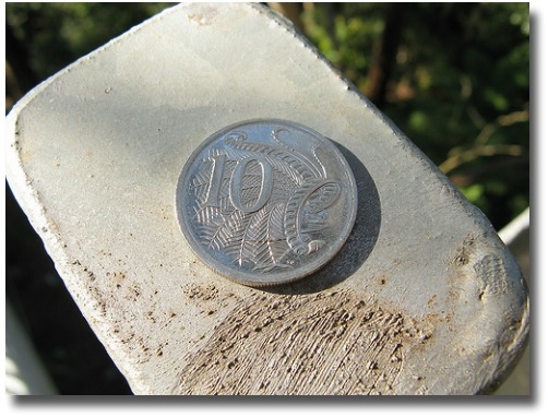 The Australian lyrebird's tail on the Australian 10 cent coin compliments of http://www.flickr.com/photos/whiskerj/3711865035/