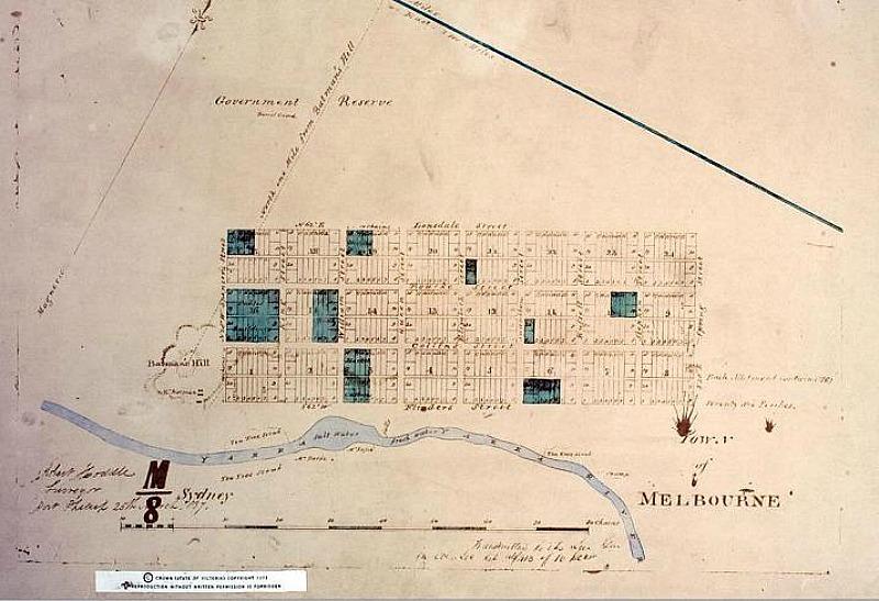 Batman's Hill map, Docklands area Melbourne Australia