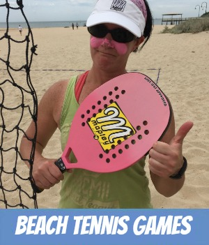 Image link to site page on beach tennis at Port Melbourne