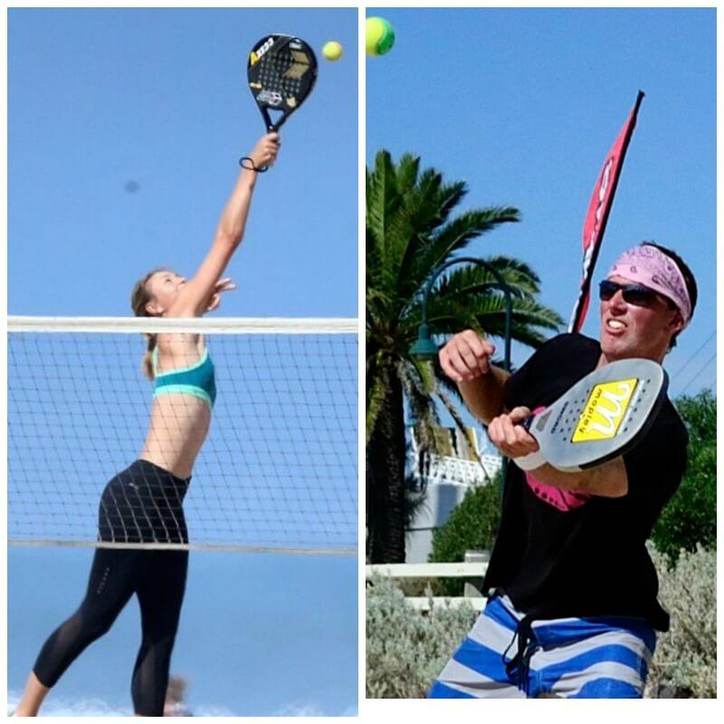 Beach tennis Games played at Port Melbourne Beach Melbourne Australia