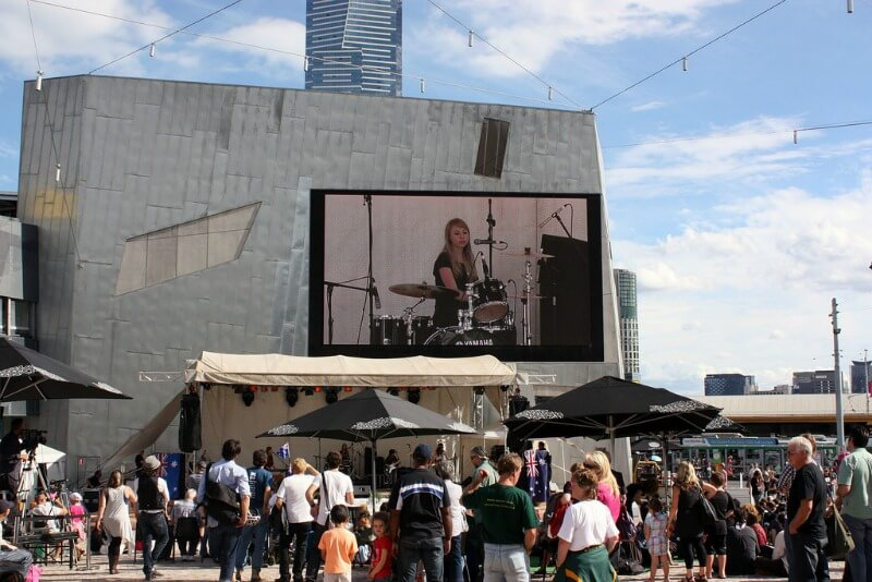 The Big Screen in Federation Square compliments of https://flic.kr/p/7RQRtm