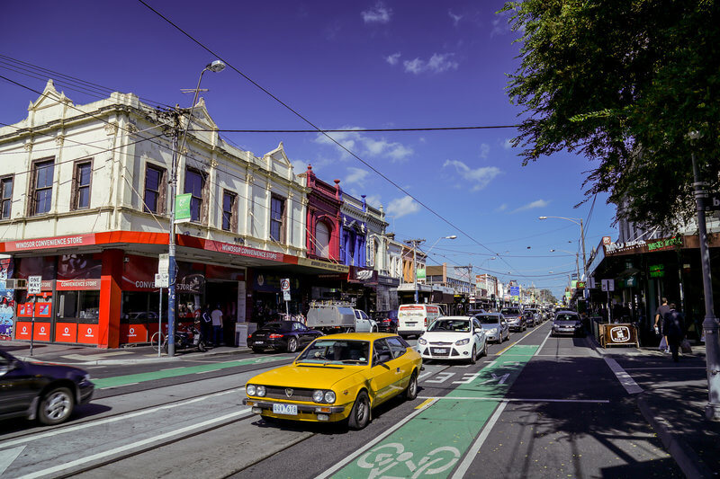 Designated safe bike lane for cyclists riding in the Prahran area compliments of https://flic.kr/p/G7xE6x