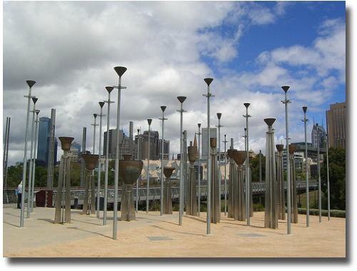 Birrarung Marr and the Federation Bells Melbourne Australia compliments of http://www.flickr.com/photos/avlxyz/3155704032/