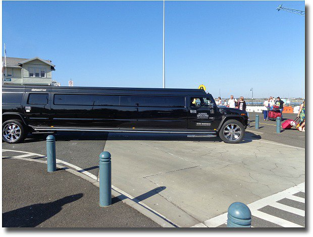 Black Hummer limousine at Station Pier Port Melbourne