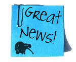 Great news post it note