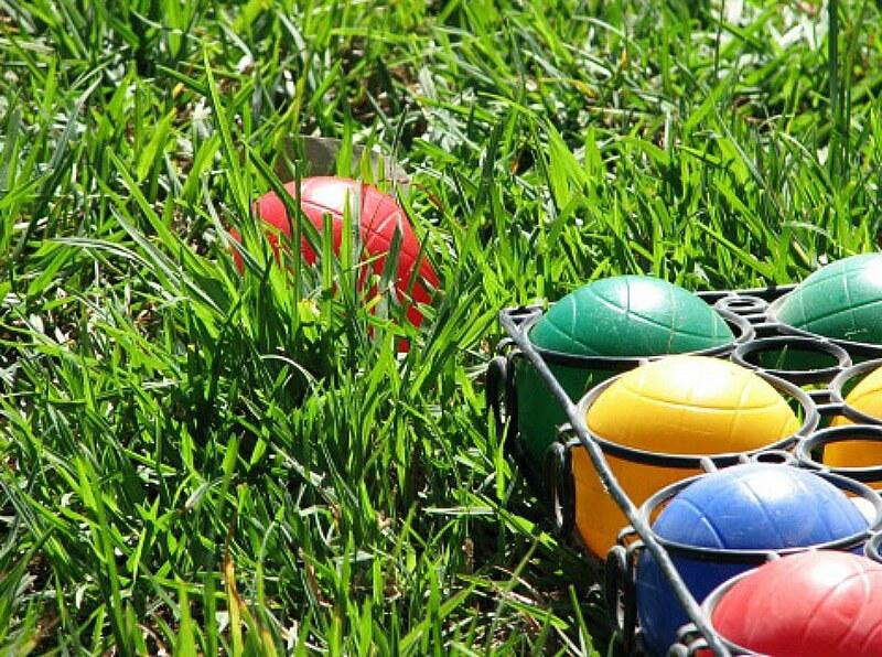 Colorful bocce balls
