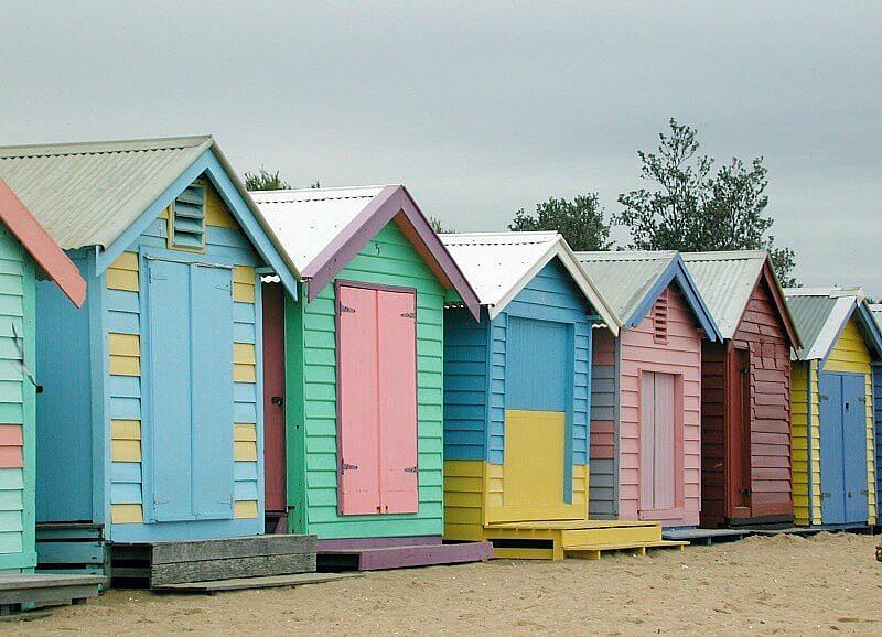 beach huts at brighton