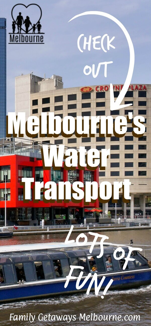 image to pin to Pinterest for the site page on water transportation in Melbourne
