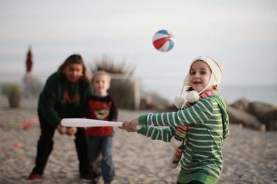 Beach Baseball Fun And Games