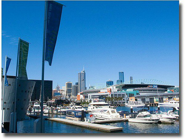 Waterfront at Melbourne's Docklands compliments of http://www.flickr.com/photos/acroamatic/264442218/