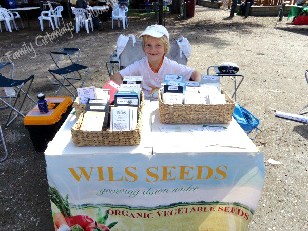 Coal Creek farmers market organic seed stall