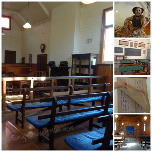 Coal Creek Heritage Village Courtroom, Church and School
