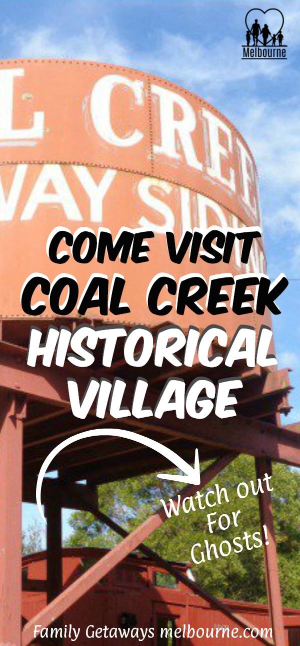 Coal Creek historical village Pinterest pin