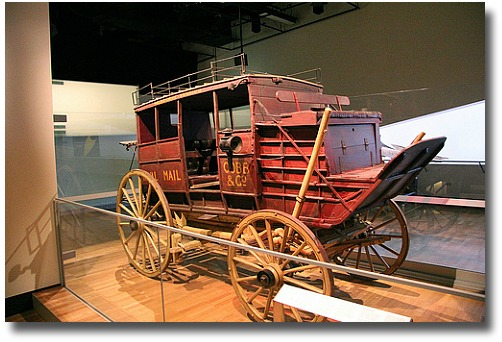 Cobb and Co Mail Delivery and Passenger Coach at the Melbourne Australia museum compliments of http://www.flickr.com/photos/jophan/4974592123/