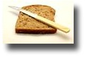 Slice of bread with knife