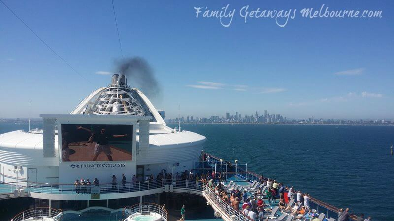 Cruising from Melbourne on the Golden Princess cruise ship