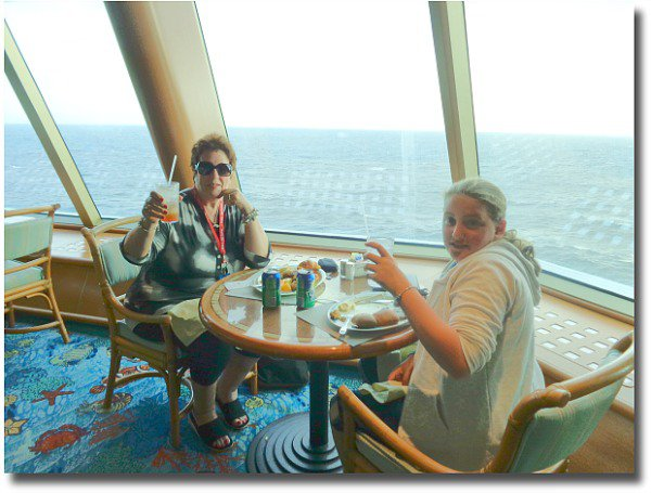 Eating at the Buffet Restaurant on the Dawn Princess