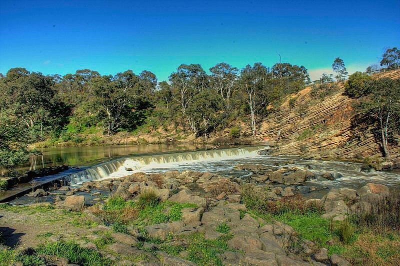 Dights Falls in Abbotsford, Victoria - Australia
