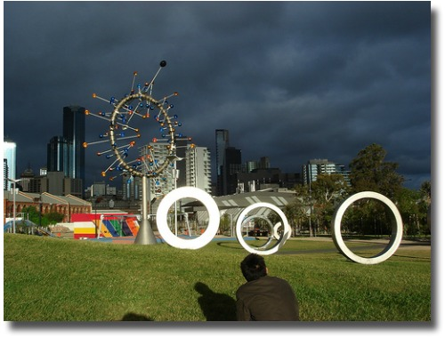 Storm over Docklands Park Melbourne Australia compliments of http://www.flickr.com/photos/joewei/305331592/