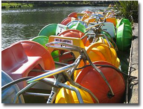 Emerald Lake Park paddle boats