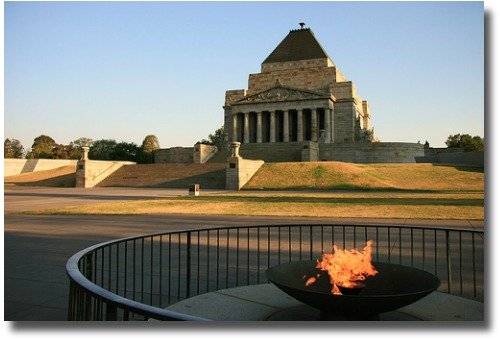 The Eternal Flame Burns Outside The Shrine Melbourne Australia compliments of http://www.flickr.com/photos/splatt/471929304/
