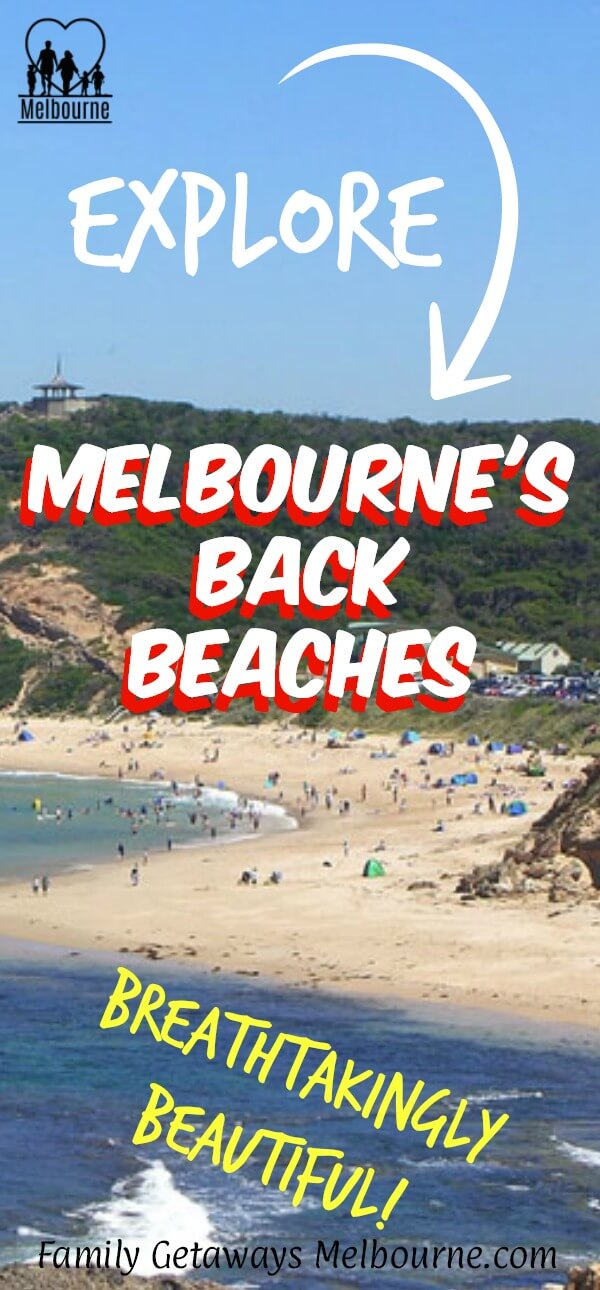 Melbourne's back beaches image to pin to Pinterest