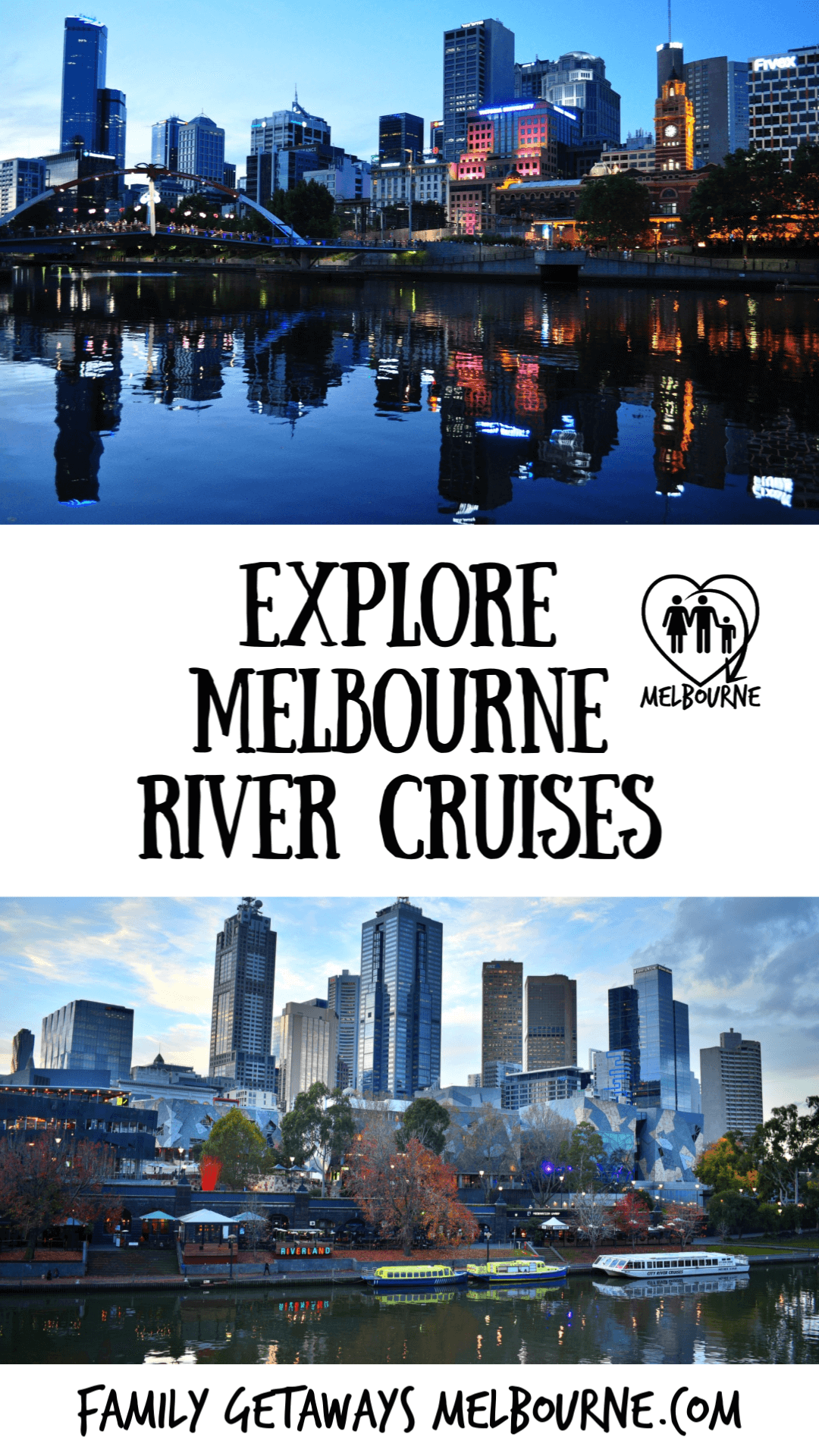 Melbourne River Cruises Pinterest pin