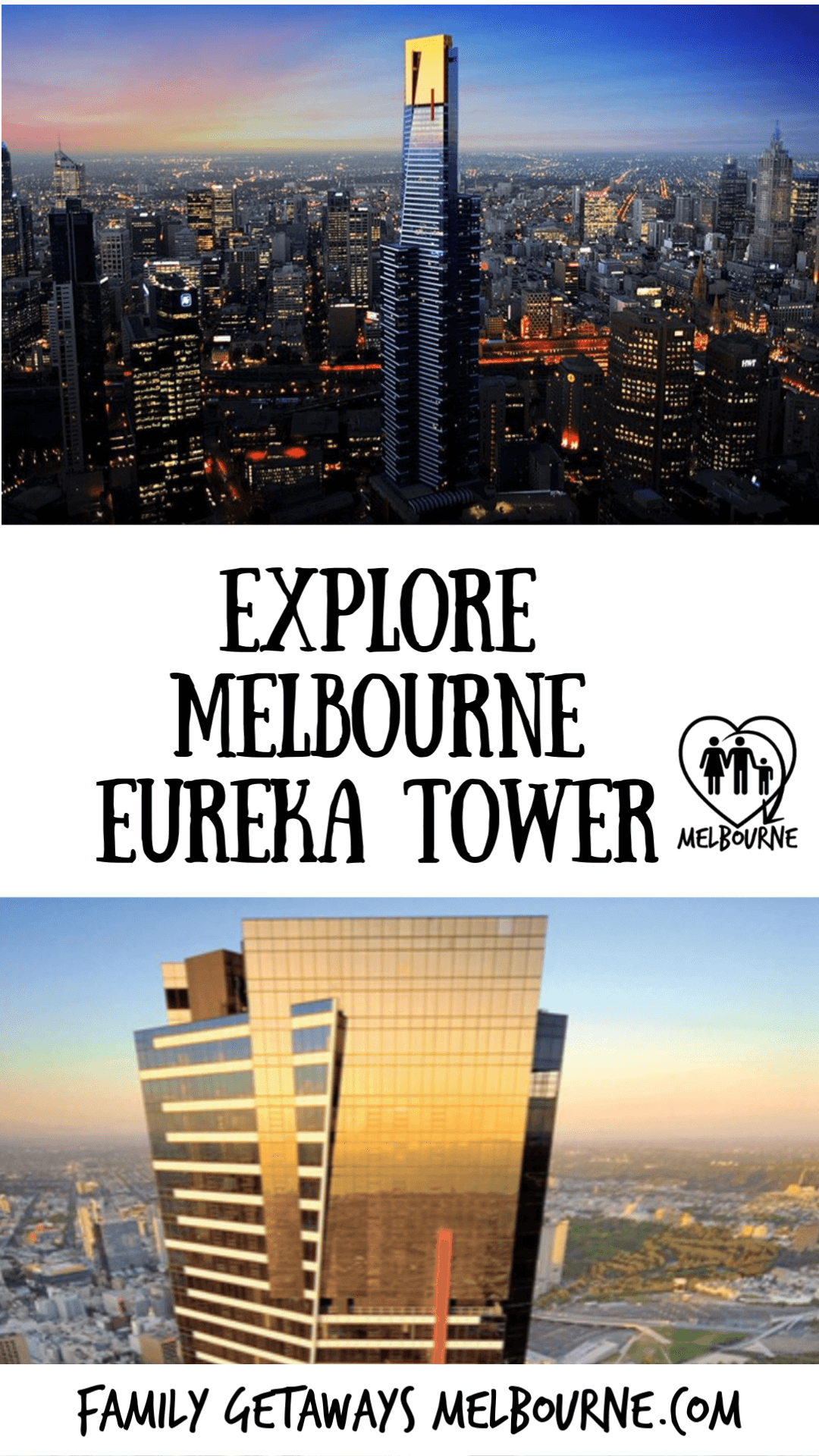 image to pin to pinterest for the Eureka Tower in Melbourne
