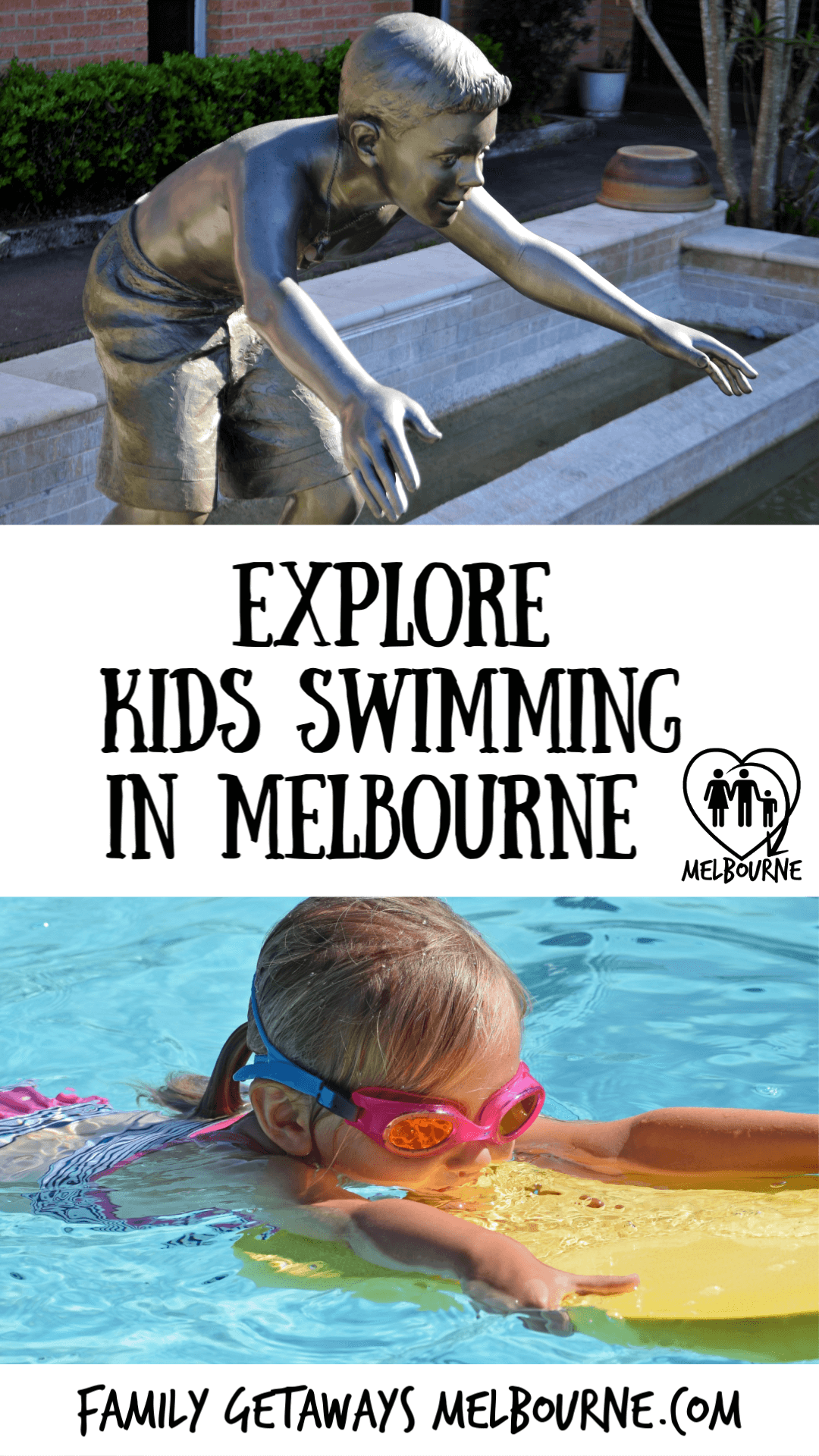 Pinterest kids swimming in Melbourne pin