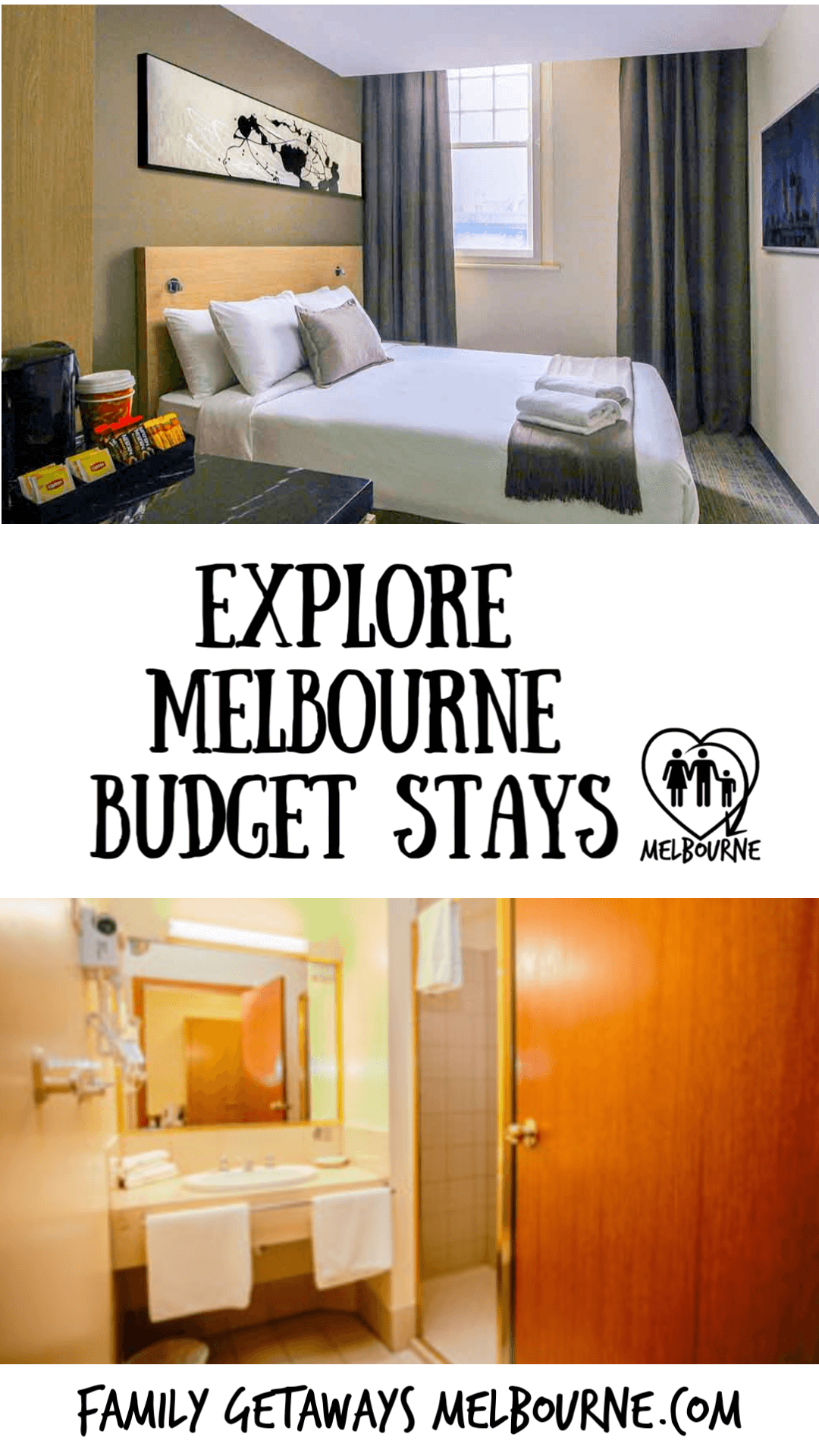 Budget accommodation in Melbourne, Australia pinterest pin