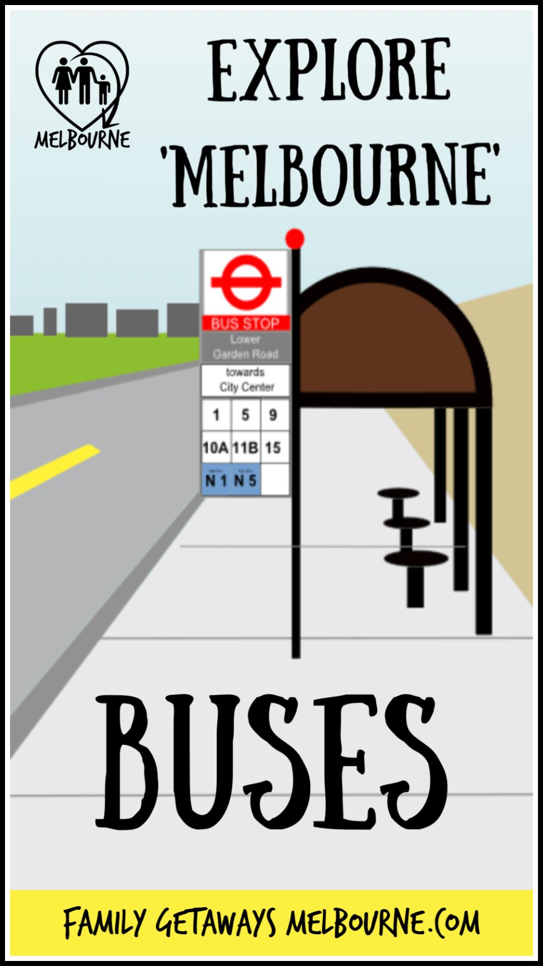 bus transport stop image to pin to Pinterest