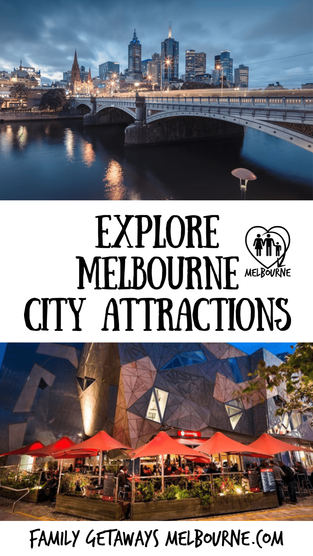 image to pin to pinterest for Melbourne Tourist Attractions part 1