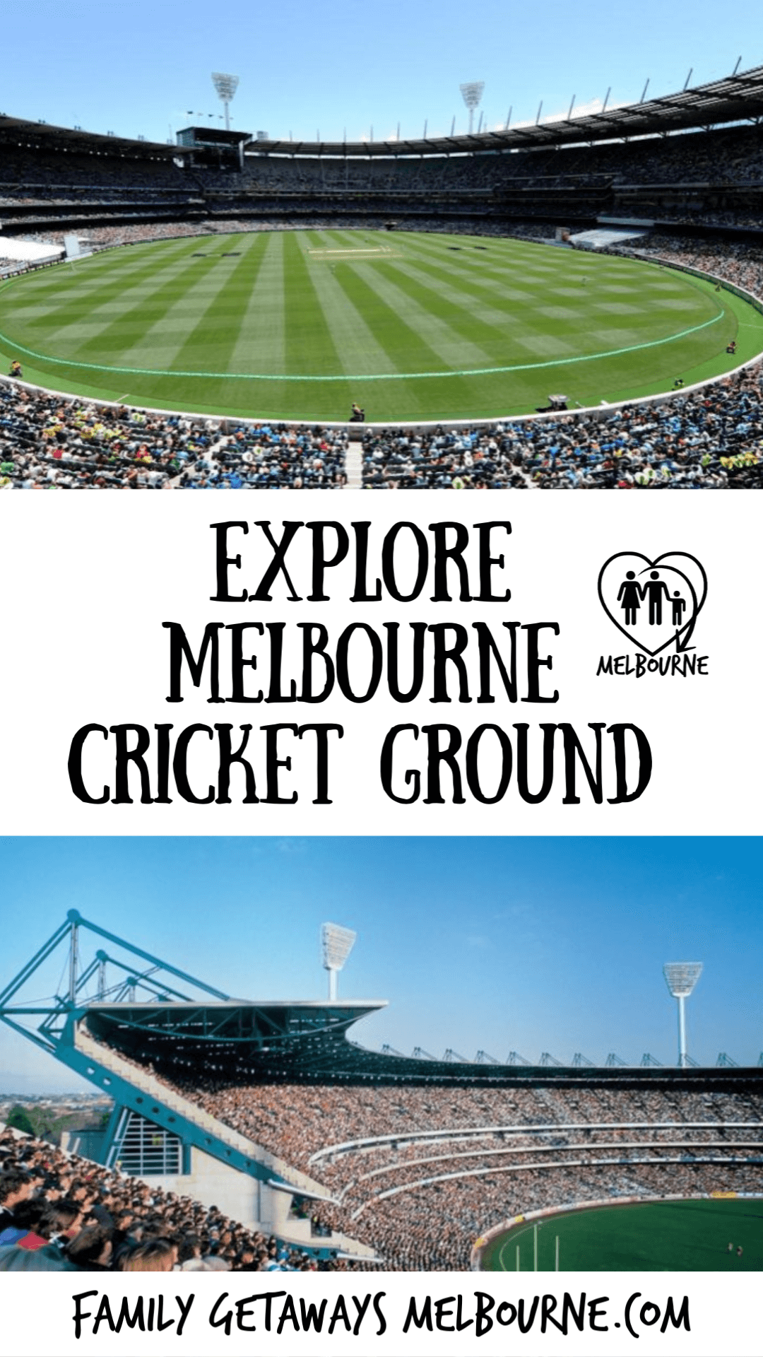image to pin to pinterest for Melbourne Cricket Ground