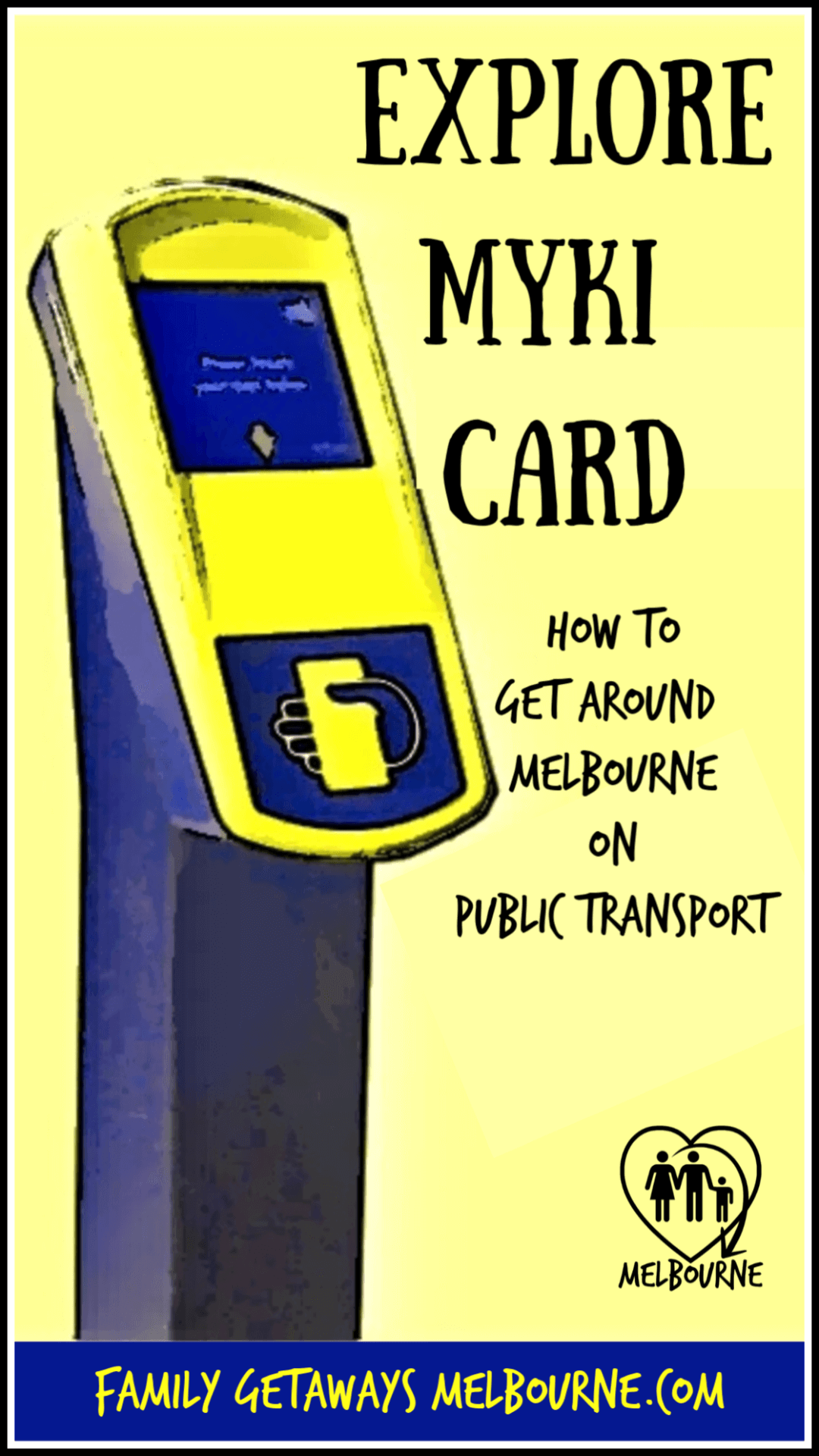 Myki touch on touch off machine replaces the old Metcard