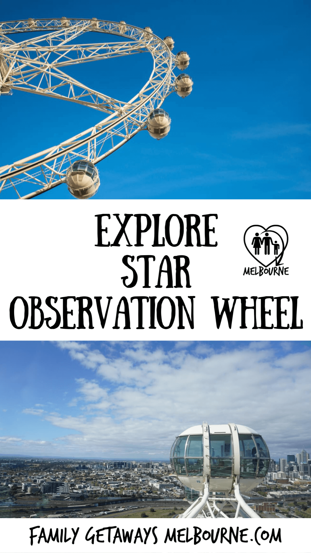 image to pin to pinterest for the Melbourne Star Observation Wheel