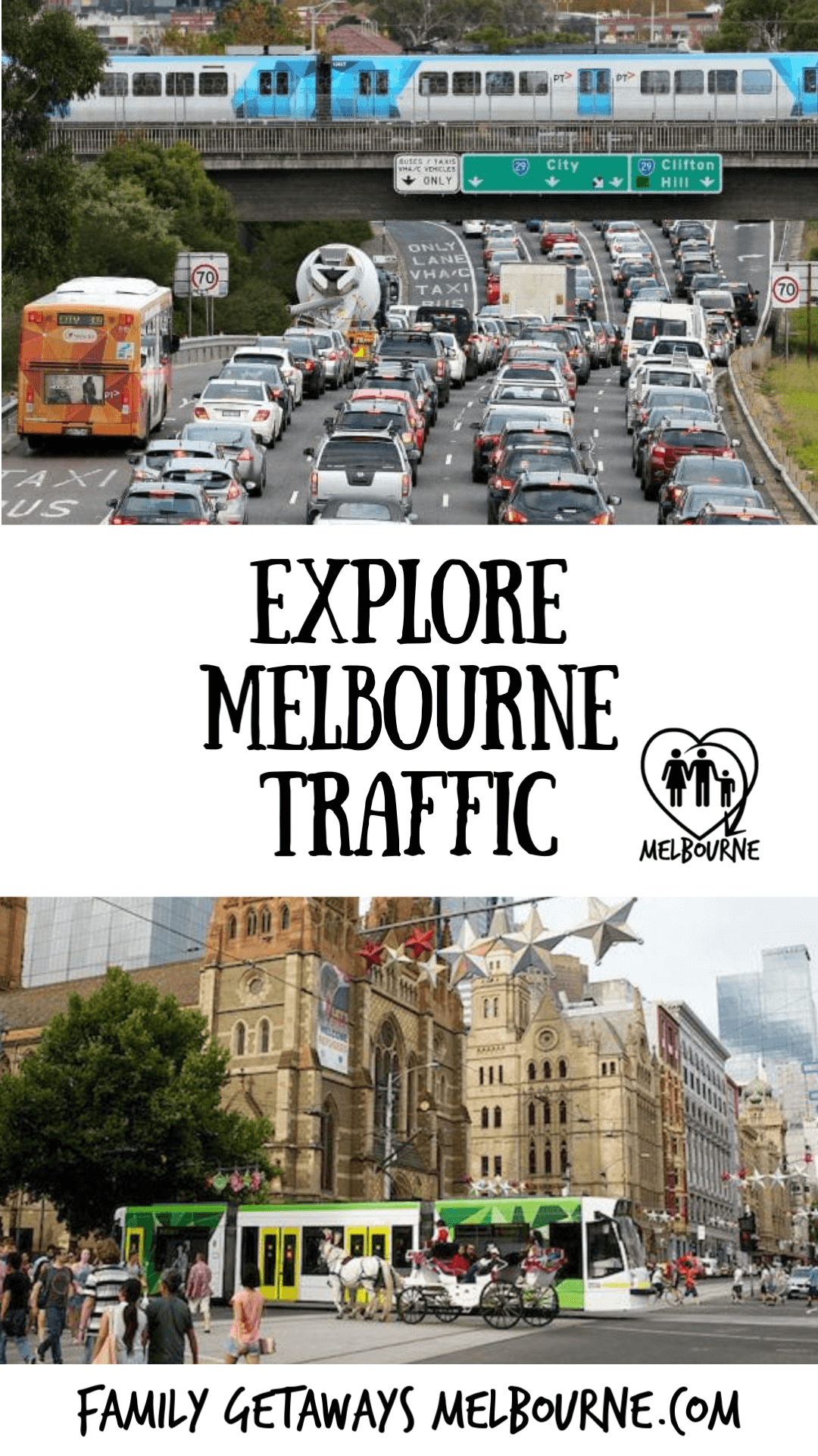 Melbourne Traffic image to pin to Pinterest