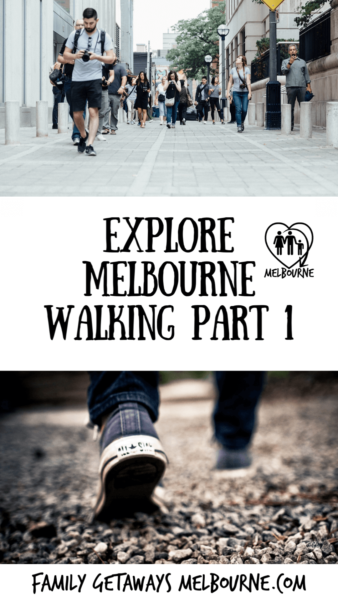 image to pin to Pinterest for walking melbourne part 1 of the 2 part section on exploring Melbourne, Australia