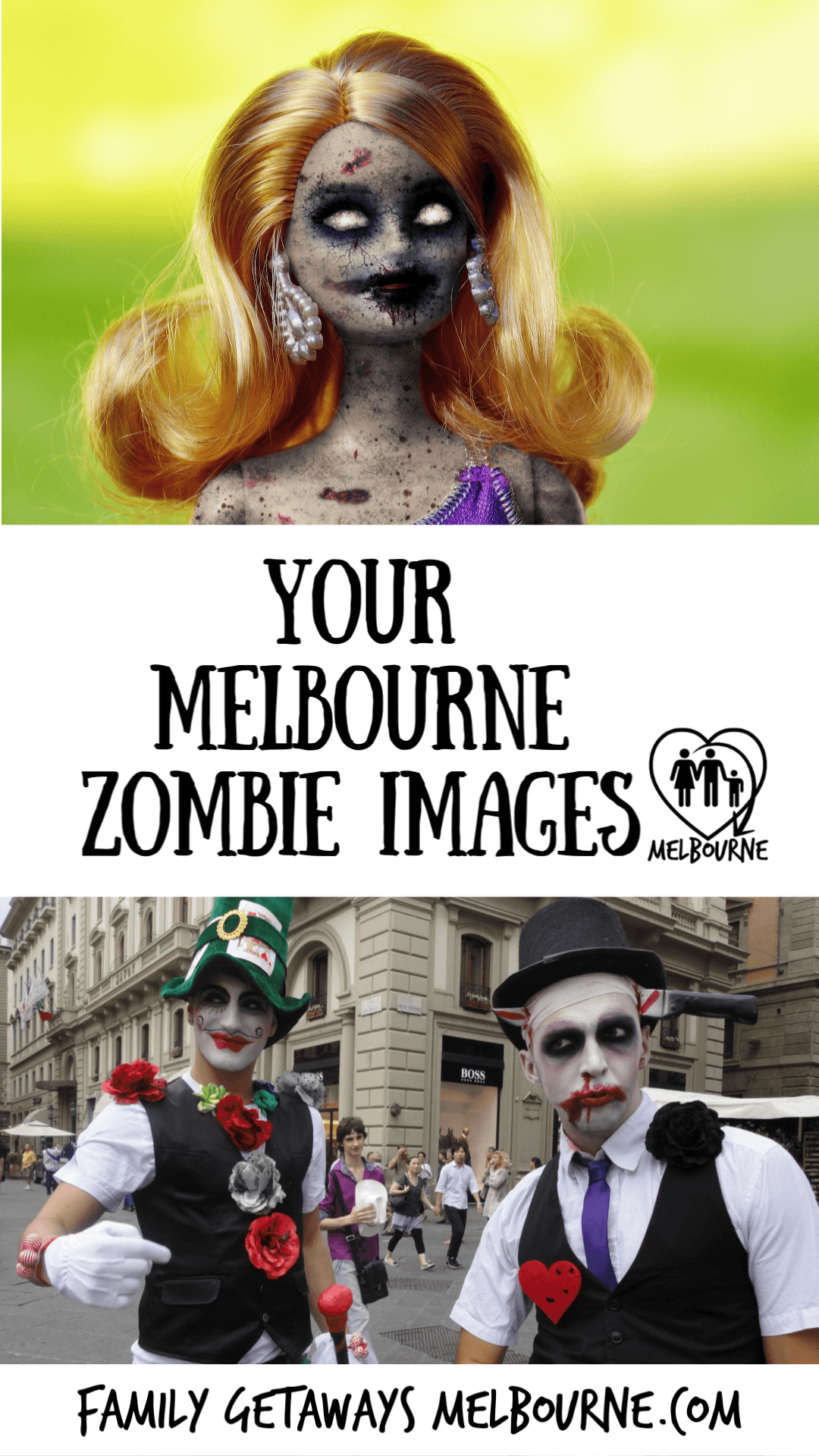 image to pin to Pinterest for the site page on Zombie images from 2012