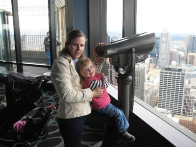 Locals take in the 360 degree Views on the Observation Deck