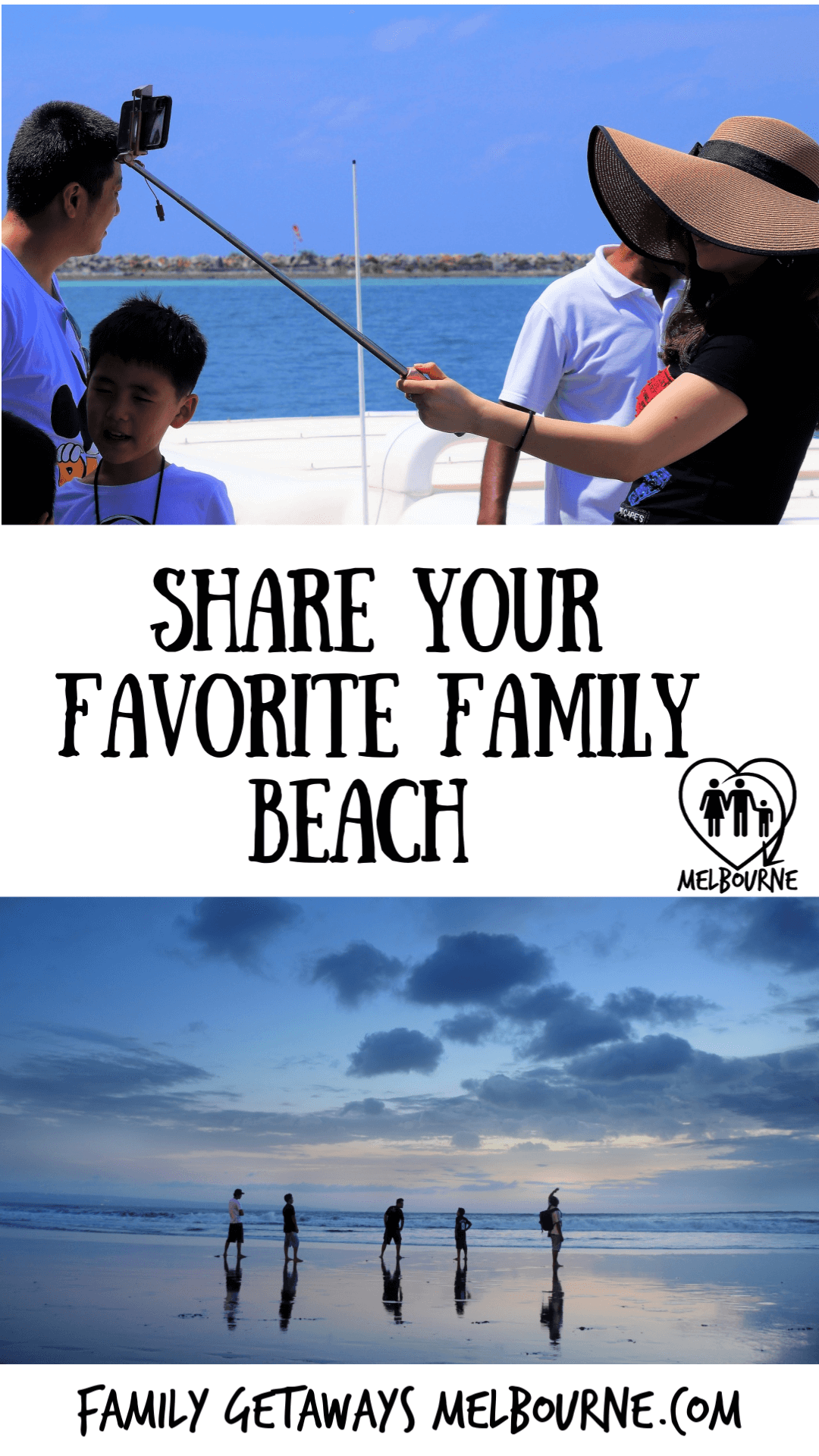 Image to pin to Pinterest for the site page on sharing your favorite family beach story