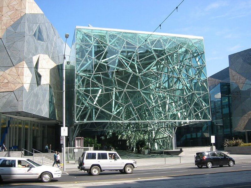 The Atrium Federation Square, Melbourne - by Cookaa (Own work) [GFDL (http://www.gnu.org/copyleft/fdl.html) or CC BY-SA 3.0 (http://creativecommons.org/licenses/by-sa/3.0)], via Wikimedia Commons