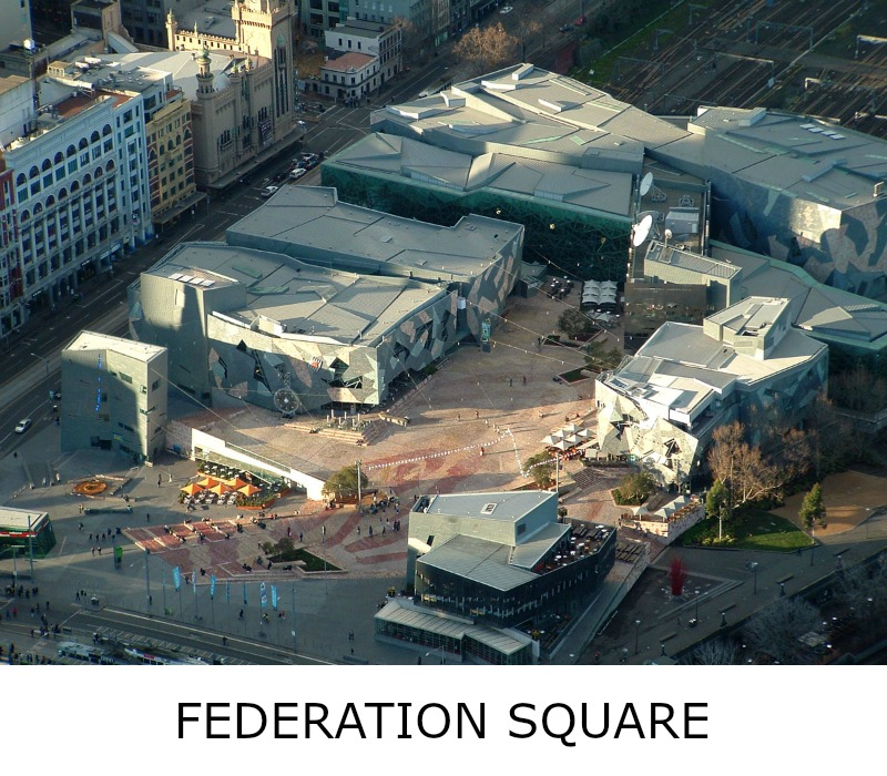 Image link to site page for more information on the Melbourne's Federation Square