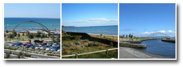 frankston beach foreshoe, carpark and Kananook Creek's mouth
