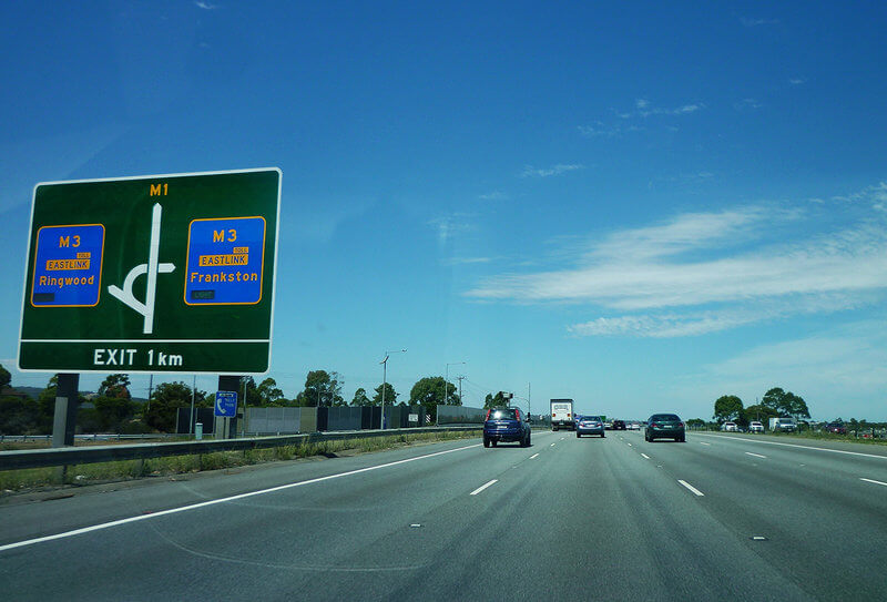The M1, Monash Freeway compliments of https://flic.kr/p/dTxHcG