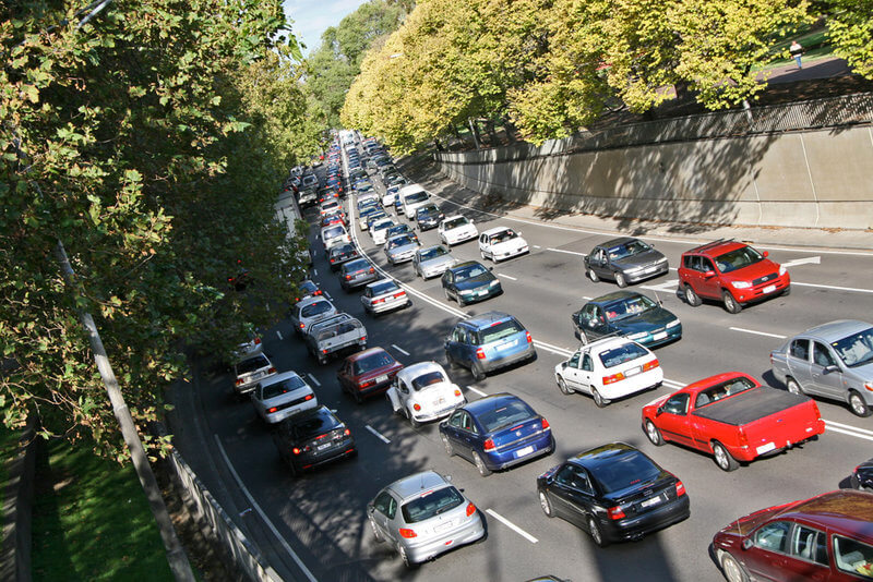 Congested traffic on Melbourne's road during peak hour compliments of https://flic.kr/p/E7wHf